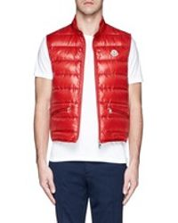 2ebee5d84 Moncler  gui  Down Vest in Red for Men - Lyst