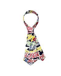 Scenery Label - Multicolor Graffiti Short Necktie for Men - Lyst