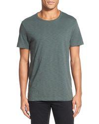 Vince - Green Slub Cotton Crewneck T-shirt for Men - Lyst