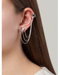 Lara Bohinc - Metallic 'planetaria' Drop Earrings - Lyst
