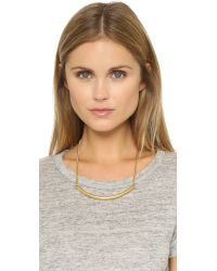 Madewell | Metallic Bar Necklace - Vintage Gold | Lyst