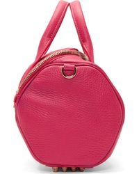 Alexander Wang - Flamingo Pink Metallic Leather Rockie Sling Bag - Lyst