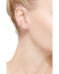Hirotaka - Metallic Single Diamond Ear Cuff With Black Plating - Lyst