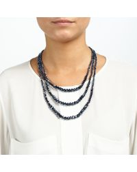 John Lewis - Blue Sparkle Short Layered Necklace - Lyst
