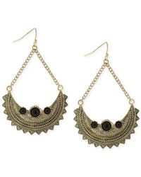 BCBGeneration - Metallic Chained To My Heart Glitz And Goldtone Drop Earrings - Lyst