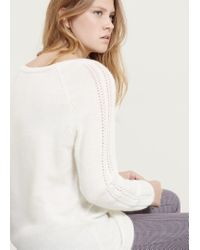 Violeta by Mango | Natural Embellished Alpaca Wool-blend Sweater | Lyst