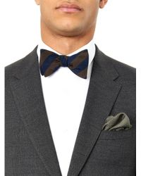 Gieves & Hawkes - Brown Bi-colour Striped Bow Tie for Men - Lyst
