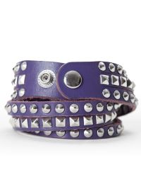 Linea Pelle | Purple Mixed Stud Bracelet | Lyst