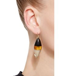 Marni - Orange Colorblock Horn Drop Earrings - Lyst
