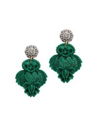 Lulu Frost | Green Katherine Crystal And Resin Earrings | Lyst