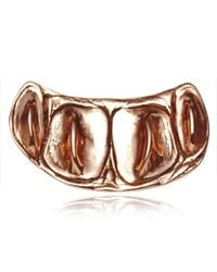 Rachael Ruddick | Metallic Croc Knuckleduster Rose Gold | Lyst