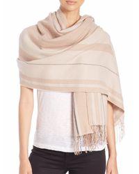 Rag & Bone - Natural Warped Stripe Merino Wool Scarf - Lyst
