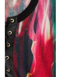 Just Cavalli - Printed Wool Cape - Multicolor - Lyst