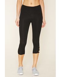 Forever 21 | Black Active Side Stripe Leggings | Lyst