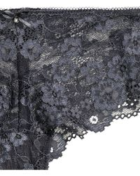 H&M - Gray Lace Hipster Briefs - Lyst