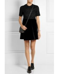 N°21 - Black Lace And Velvet Dress - Lyst