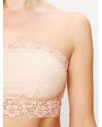 Free People | Pink Lace Trim Bandeau | Lyst