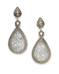 John Hardy - Metallic Dot Batu Mother-Of-Pearl, 18K Yellow Gold & Sterling Silver Teardrop Earrings - Lyst