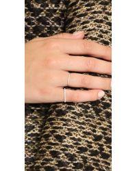 Gabriela Artigas   Metallic Pave Diamond Mini Axis Ring   Lyst