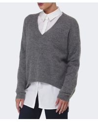 Gestuz | Gray Gaby Wool V-neck Jumper | Lyst