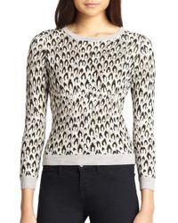 Diane von Furstenberg - Gray Leopard Pattern Sweater - Lyst