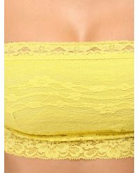 Free People | Yellow Lace Trim Bandeau | Lyst