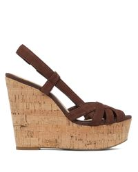 Jessica Simpson | Brown Westt Cork Wedge Sandals | Lyst