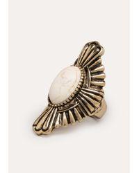Bebe | Metallic Stone Cocktail Ring | Lyst