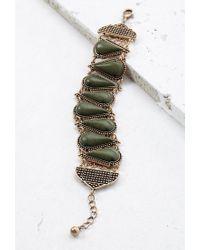 Forever 21 | Green Spade-shaped Faux Stone Bracelet | Lyst
