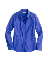 J.Crew | Blue Stretch Perfect Shirt | Lyst