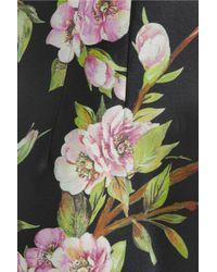Dolce & Gabbana   Black Wild Rose-Print Silk Dress   Lyst