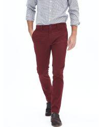 Banana Republic | Red Fulton Skinny Moleskin Pant for Men | Lyst