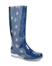 TOMS | Blue 'cabrilla' Print Rain Boot | Lyst