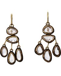 Judy Geib - Metallic Gemstone Drop Earrings - Lyst