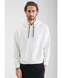 Forever 21   White Dolman Sleeve Hoodie You've Been Added To The Waitlist   Lyst