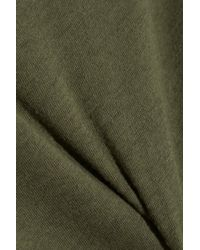 NLST - Green Classic Brushed Cotton And Cashmere-Blend T-Shirt - Lyst