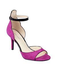 Nine West - Pink Gynwth Ankle Strap Sandals - Lyst