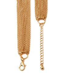 Forever 21 - Metallic Angular Pointed Bar Necklace - Lyst
