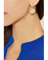 Aurelie Bidermann | Metallic 18-karat Gold Multi-stone Shell Earring | Lyst