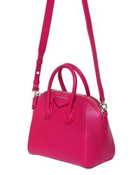 Givenchy - Pink Mini Antigona Grained Leather Bag - Lyst