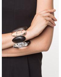 Monies - Black Large Oblong Bead Bracelet - Lyst