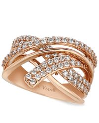Le Vian | Pink Diamond Diamond Crossover Ring (9/10 Ct. T.w.) In 14k Rose Gold | Lyst