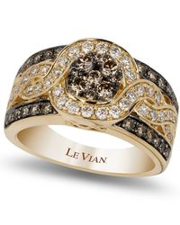 Le Vian | Brown Chocolate (3/4 Ct. T.w.) And White (1/2 Ct. T.w.) Diamond Ring In 14k Gold | Lyst