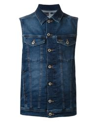 DIESEL - Blue Shar Vest for Men - Lyst