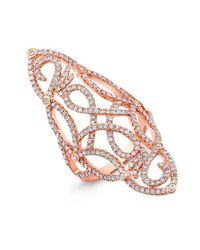 Anne Sisteron | Pink 14kt Rose Gold Diamond Taylor Ring | Lyst