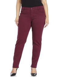 James Jeans | Purple Plus Size Twiggy Z Cigarette Jeans | Lyst