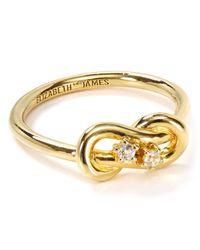 Elizabeth and James - Metallic Catalan Pinky Ring - Lyst