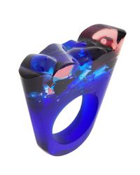 Pasionae | Blue Murano Ring Translucent Base- Delight | Lyst