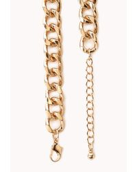 Forever 21 - Blue Regal Curb Chain Necklace - Lyst