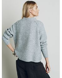 Free People - Gray Bubble Crew Neck Pullover - Lyst